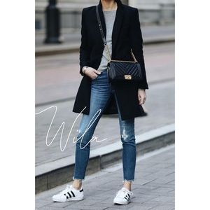 Long blazer jacket black coat 421851